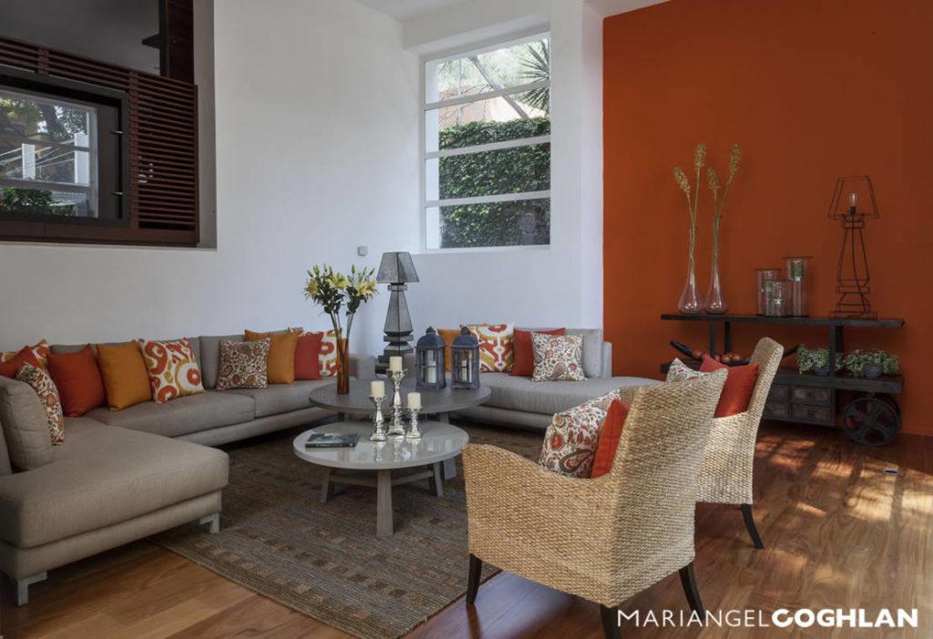 Naranja en el diseño interior colores  Mariangel Coghlan_2