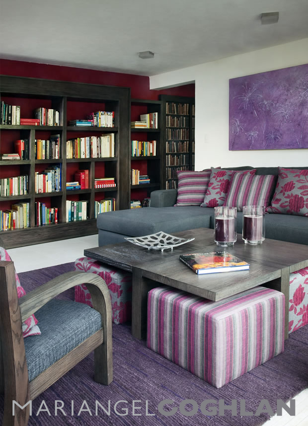 morado en interiorismo colores diseño interior Mariangel Coghlan