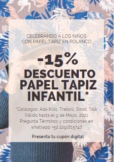 Cupon POLANCO PAPEL TAPIZ INFANTIL abr-may21