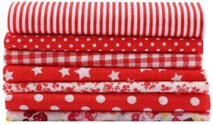 Tipos de Telas de algodón DIY Puntos Florales Cuadrados