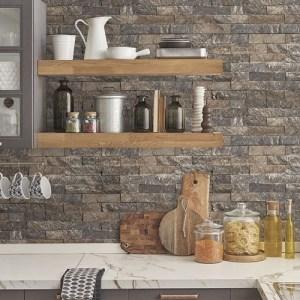 creative-kitchens-slim-stacked-stone-wallpaper-papel-tapiz- roca