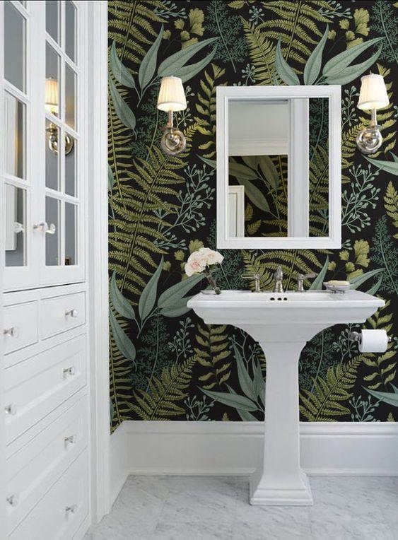 papel tapiz baño