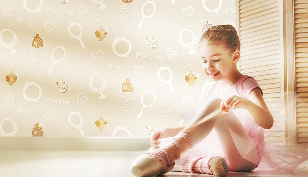 Tu bailarina favorita Favola Papel Tapiz portada con caras de niños felices