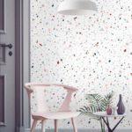 papel tapiz terrazo mármol