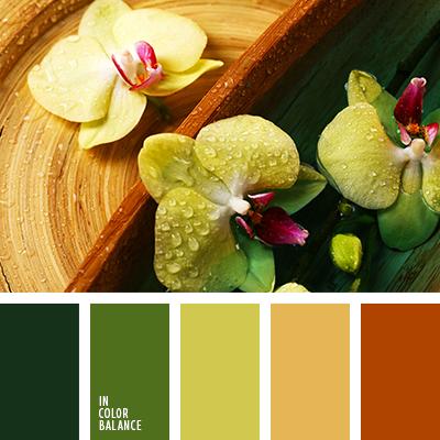 telas verde combina con amarillo y naranja