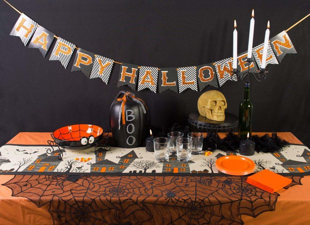 Camino de Mesa Decoración En Halloween