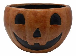 calabazas para decorar maceta para Halloween