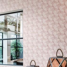 papel tapiz loft palo de rosa