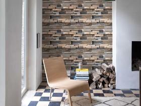 papel tapiz facade en ladrillos proyectados