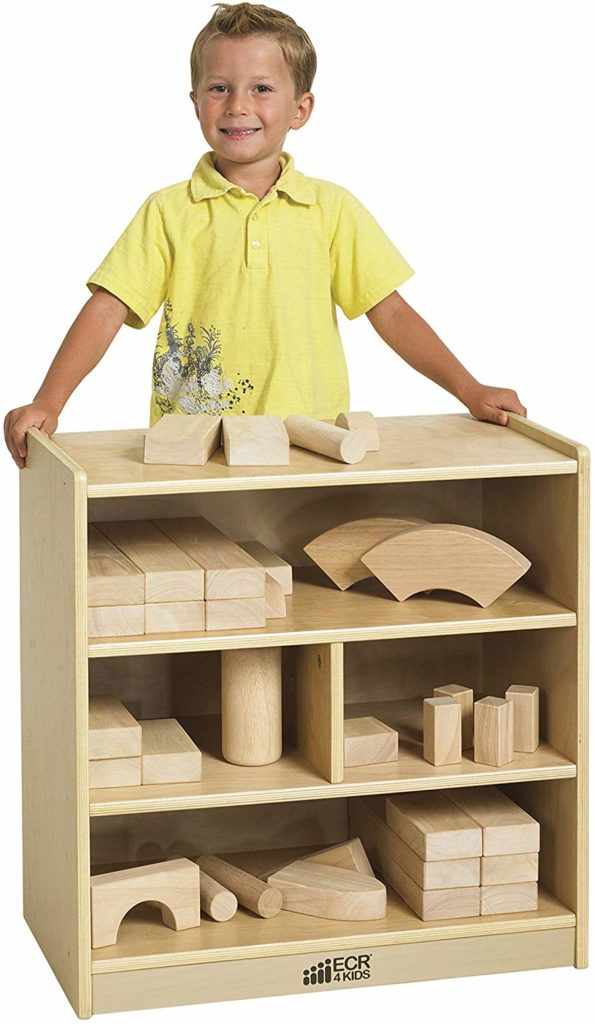 ECR4Kids Birch 4-Cubby School Classroom