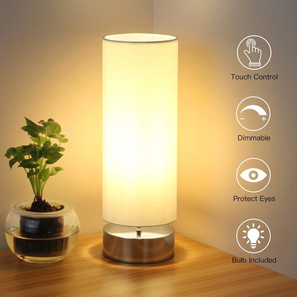 Lámpara de mesa con control táctil tips fáciles para decorar