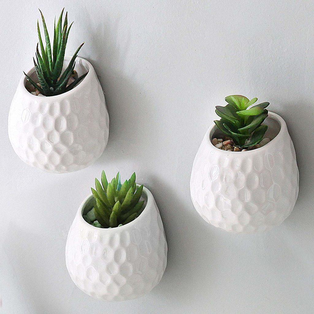 MyGift 4 Inch Golf Ball-Inspired White Ceramic Wall tips fáciles para decorar