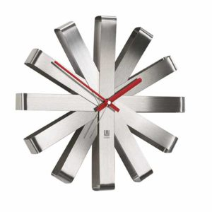 Umbra 118100-668 Ribbon Modern Wall Clock, 12 Inch