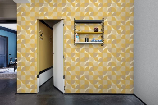 inspiration wall amarillo papel tapiz