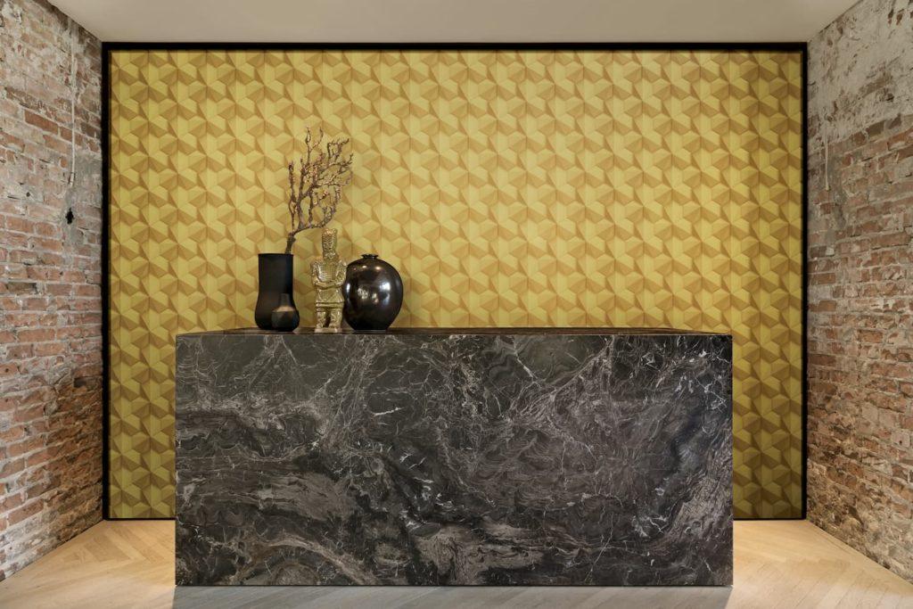 papel tapiz 3d DECO TAPIZ Loft LFT 218417 ambiente decorado en muebles