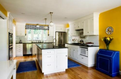 decoracion-espacios-de-cocina-amarillo- azul