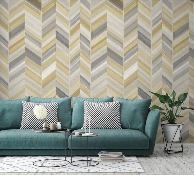 papel tapiz con figuras geométricas