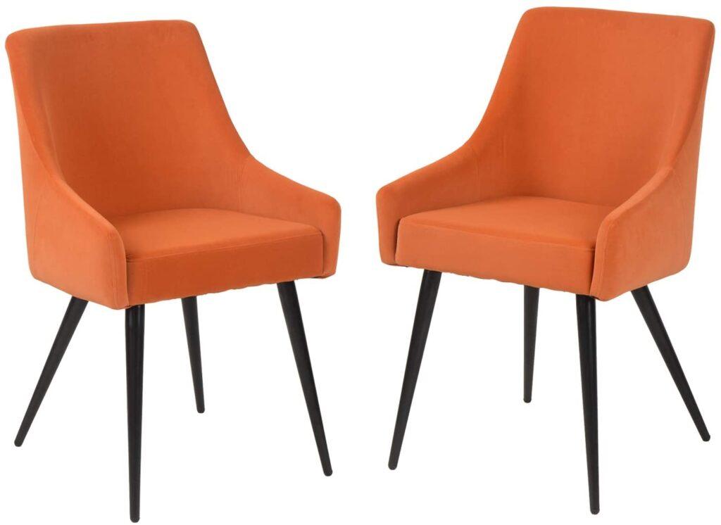 FurnitureR Sillas de comedor Juego de 2 sillas de ocio con respaldo y asiento acolchado