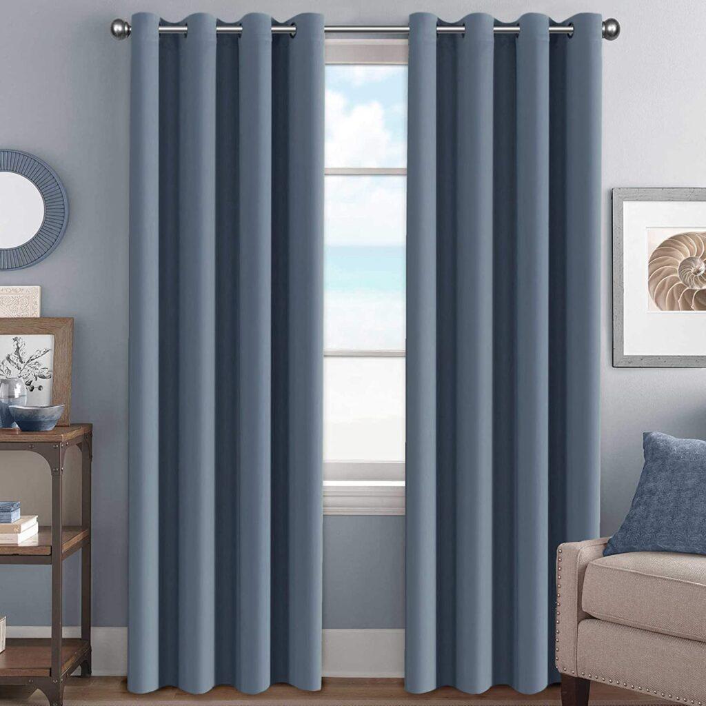 H.Versailtex - Cortinas opacas para habitación oscurecimiento, aislante térmico, con ojales para ventana