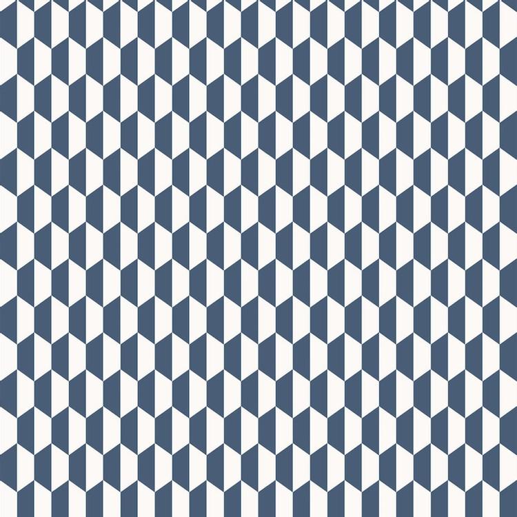 TNZ HEXAGO TNZ 3777 INDIGO papel tapiz azul decorar con color