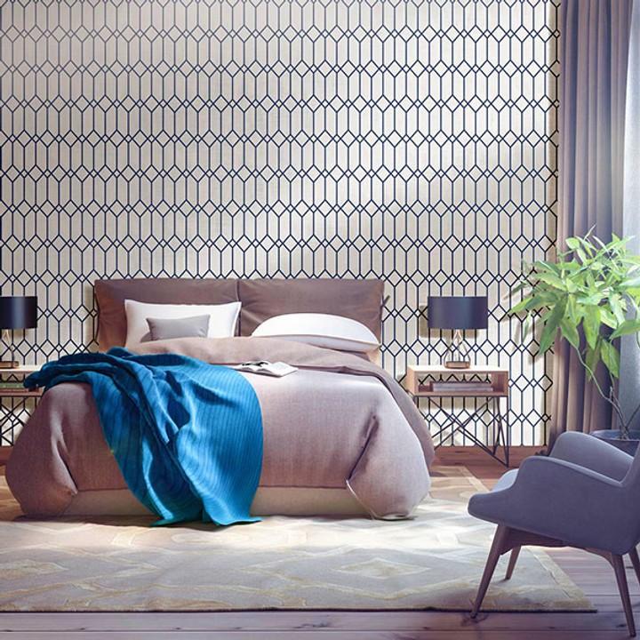 TNZ SAGITTA TNZ 3736 INDIGO ambiente decorar con color azul