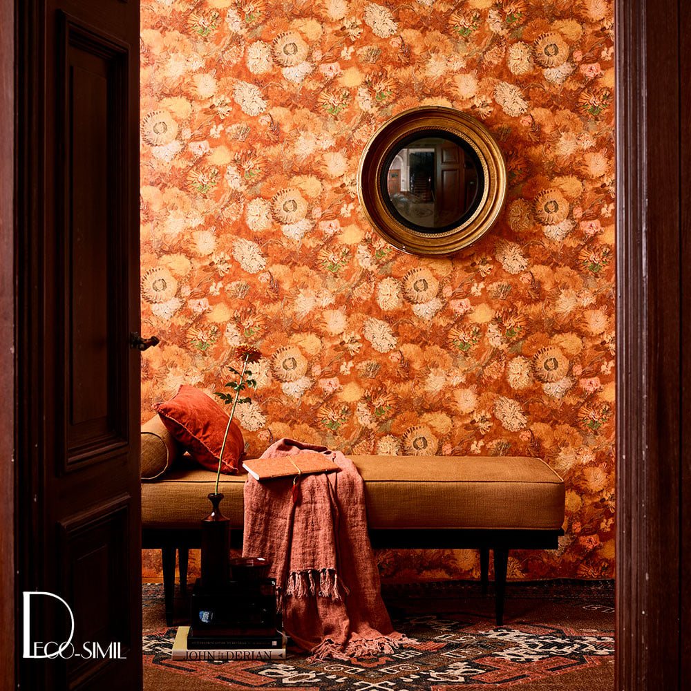 VGH BIG FLOWER VGH 220003 OCHRE decorar con color naranja