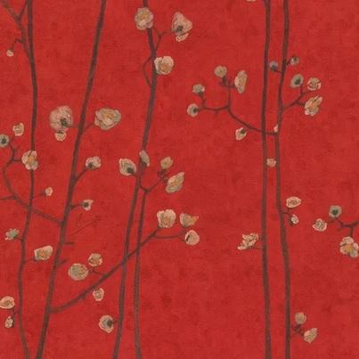 VGH JAPANESE BLOSSOM VGH 220020 RED papel tapiz rojo