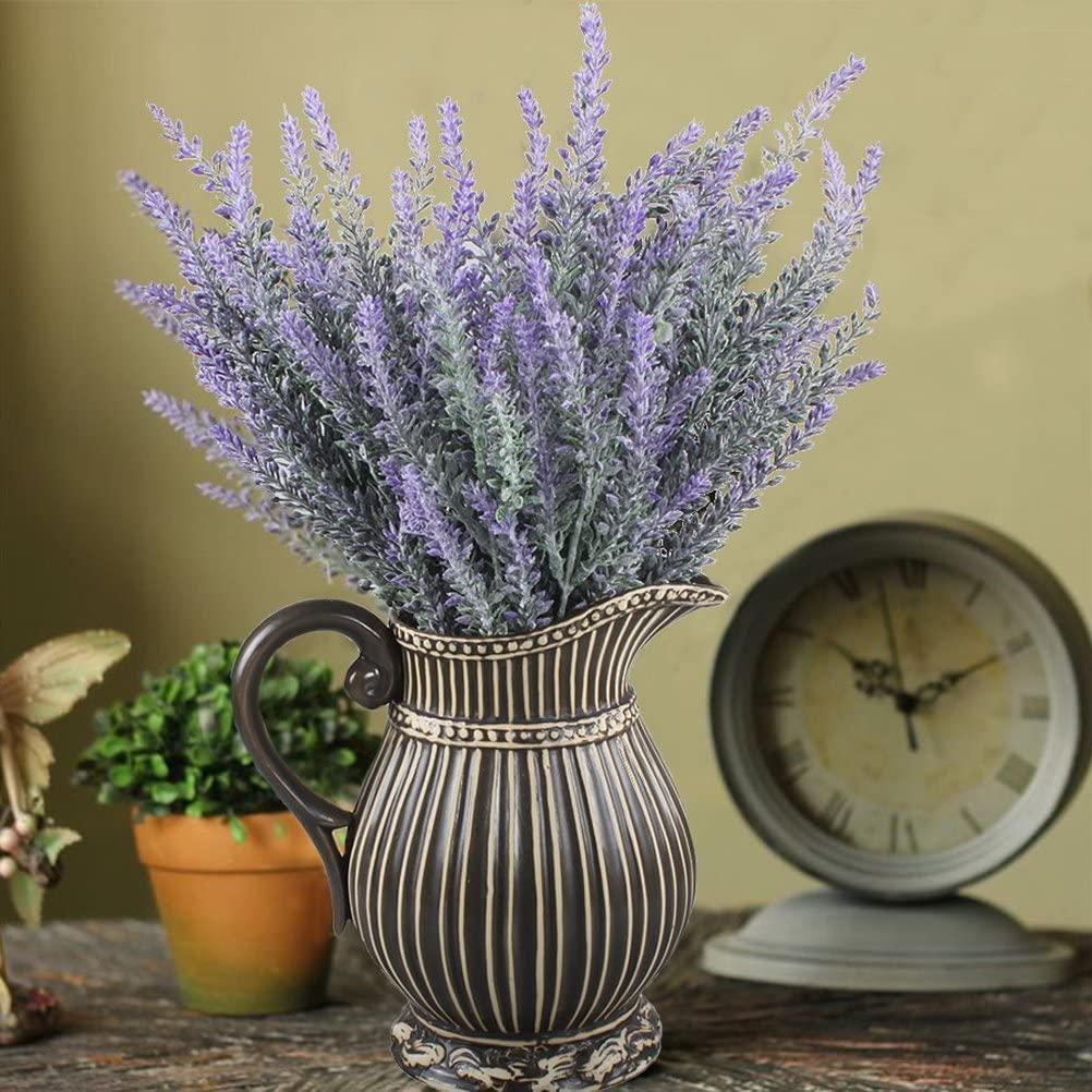 WINOMO - Ramo de lavanda artificial, 4 unidades, flores moradas para decoración de boda decorar con color morado