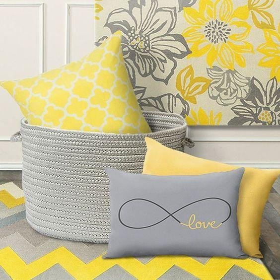 decorar con colores amarillos cojines decorativos