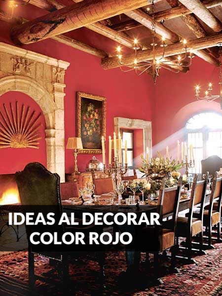ideas al decorar con color rojo interiores