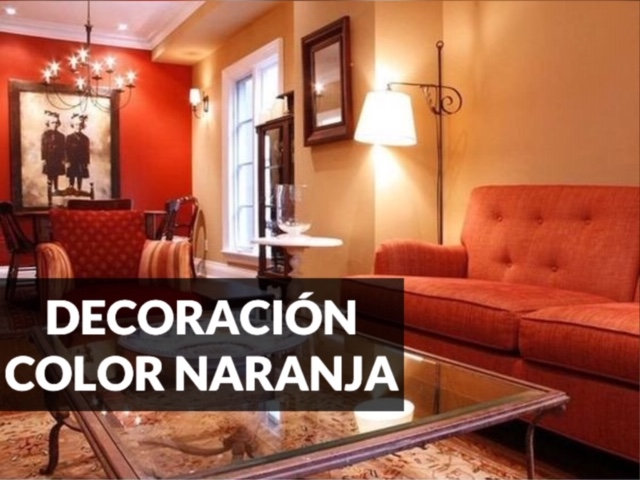 ideas de decoración color naranja