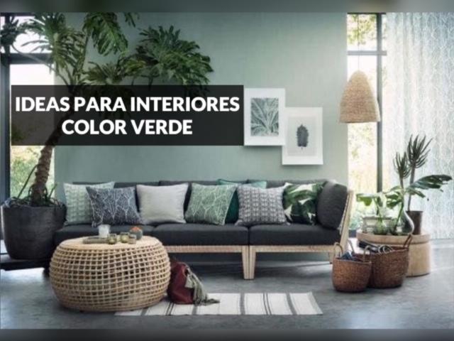 ideas para interiores color verde