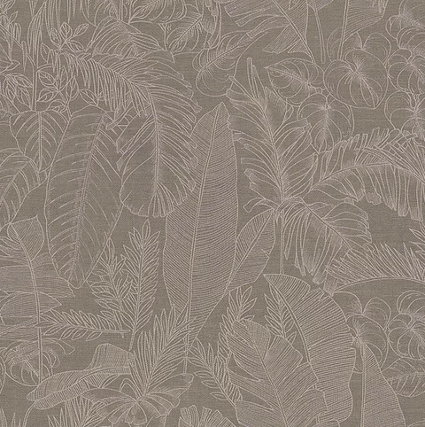 papel tapiz Riviera maison II Botanical Bliss 219912 Taupe