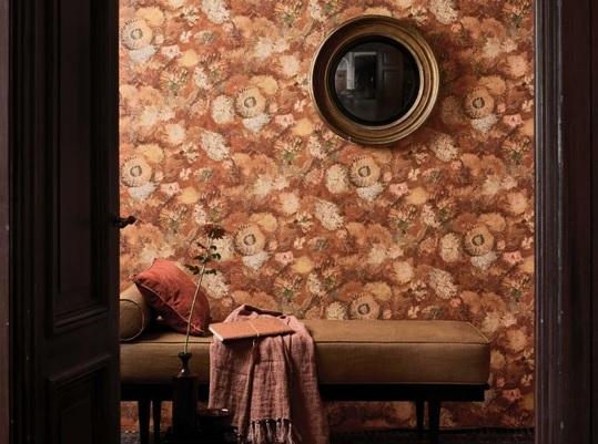 papel tapiz color de otoño van gogh naranja