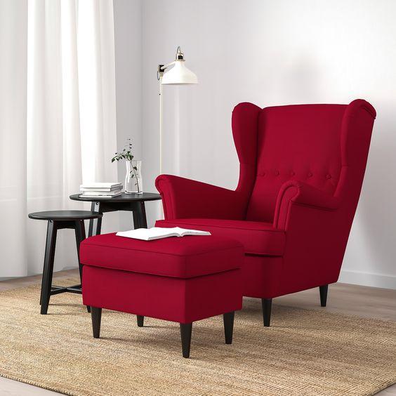 sillon rojo para sala o comedor decorar con color rojo